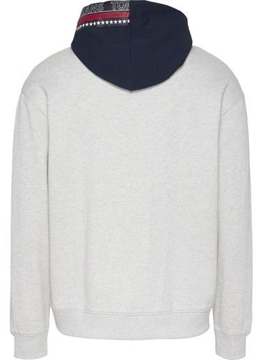 Tommy Hilfiger Erkek Tjm Contrast Hood Grap Sweatshirt DM0DM09431 Renkli